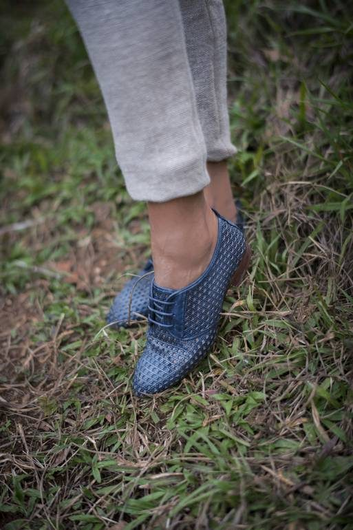Navy web-veracruz footwear